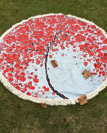 Flower Petal circle beach towel