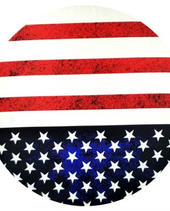 stars n stripes round towel