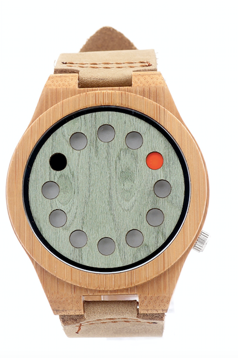 mens bamboo watch