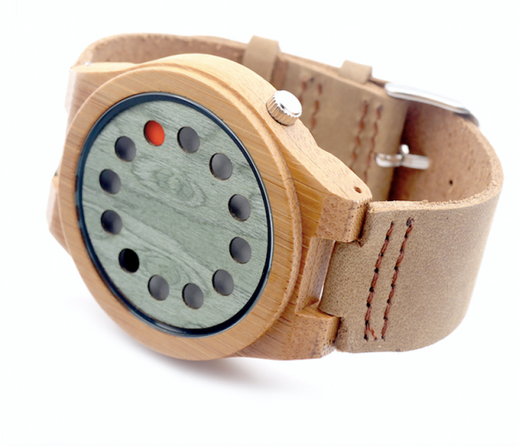 mens bamboo beach watch