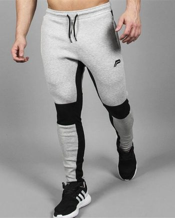 Mens trendy grey track pants